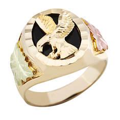 Landstroms Black Hills Gold Onyx Eagle Ring (Men's)
