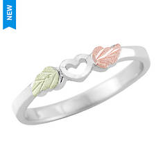 Black Hills Gold Sterling Silver Heart Ring (Women's)
