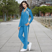 Women's Chevron-Striped Track Suit