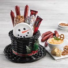 Snowman Hat Full of Snacks