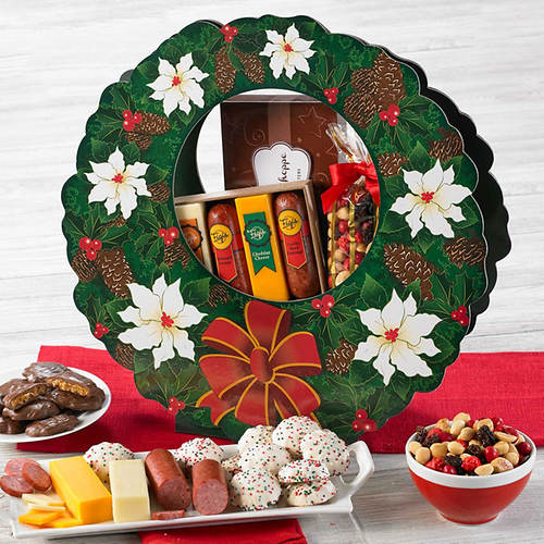 Elegant Holiday Wreath of Treats