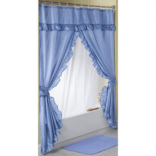 Starlite Swag Shower Curtain Stoneberry