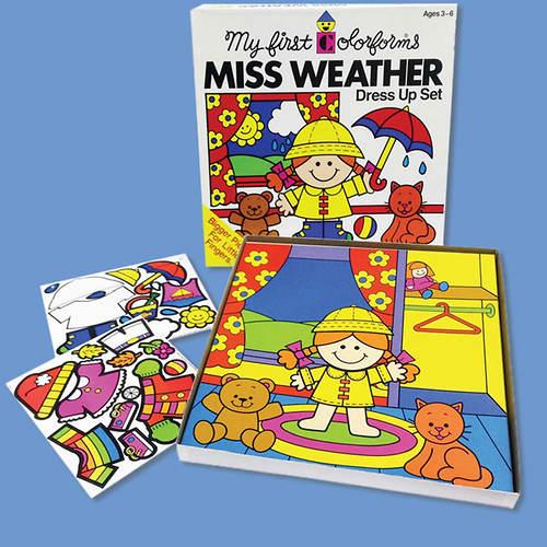 Retro Miss Weather Colorforms