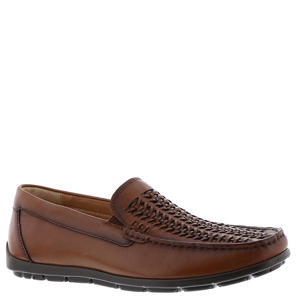 1970s Men's Clothes, Fashion, Outfits Florsheim Draft Moc Toe Woven Mens Brown Slip On 7 M $76.99 AT vintagedancer.com