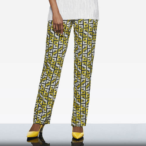Ikat Square-Printed Pants