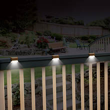 Solar Deck Lights- Set of 3