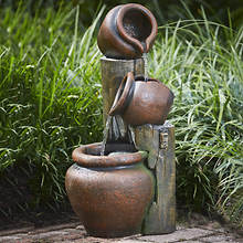 Lighted Pitcher Fountain