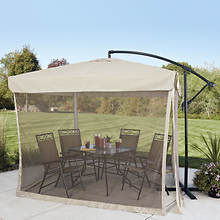 8'x8' Offset Umbrella With Mosquito Screen