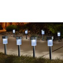 Set Of 8 Square Solar Lights