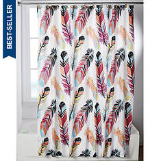 Feathers Shower Curtain And Rings