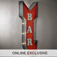 Two Sided Sign with LED Lights-Bar