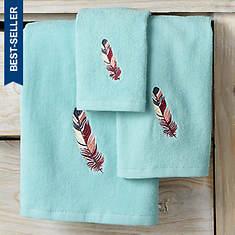 Feathers 3-Piece Towel Set