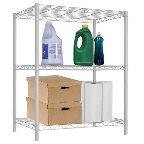 White Wire Shelf-3 Layer