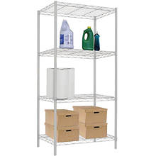 White Wire Shelf-4 Layer