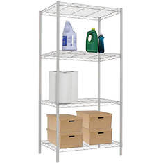 White Wire Shelf-4 Layer