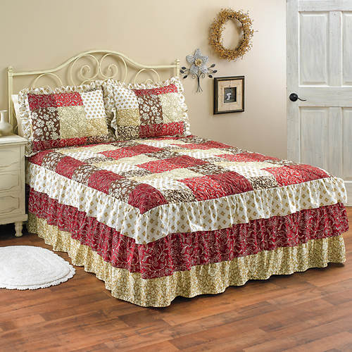 Worthington Triple Ruffle Bedspread
