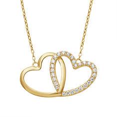 10K Gold Interlocking Hearts Necklace