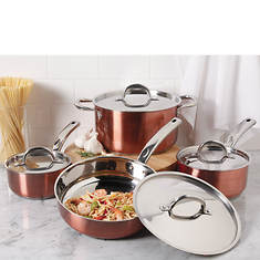 Oster 8-Piece Brookfield Stainless Steel Cookware Set
