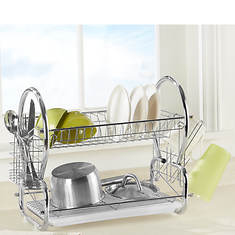 Space-Saving Chrome Dish Rack