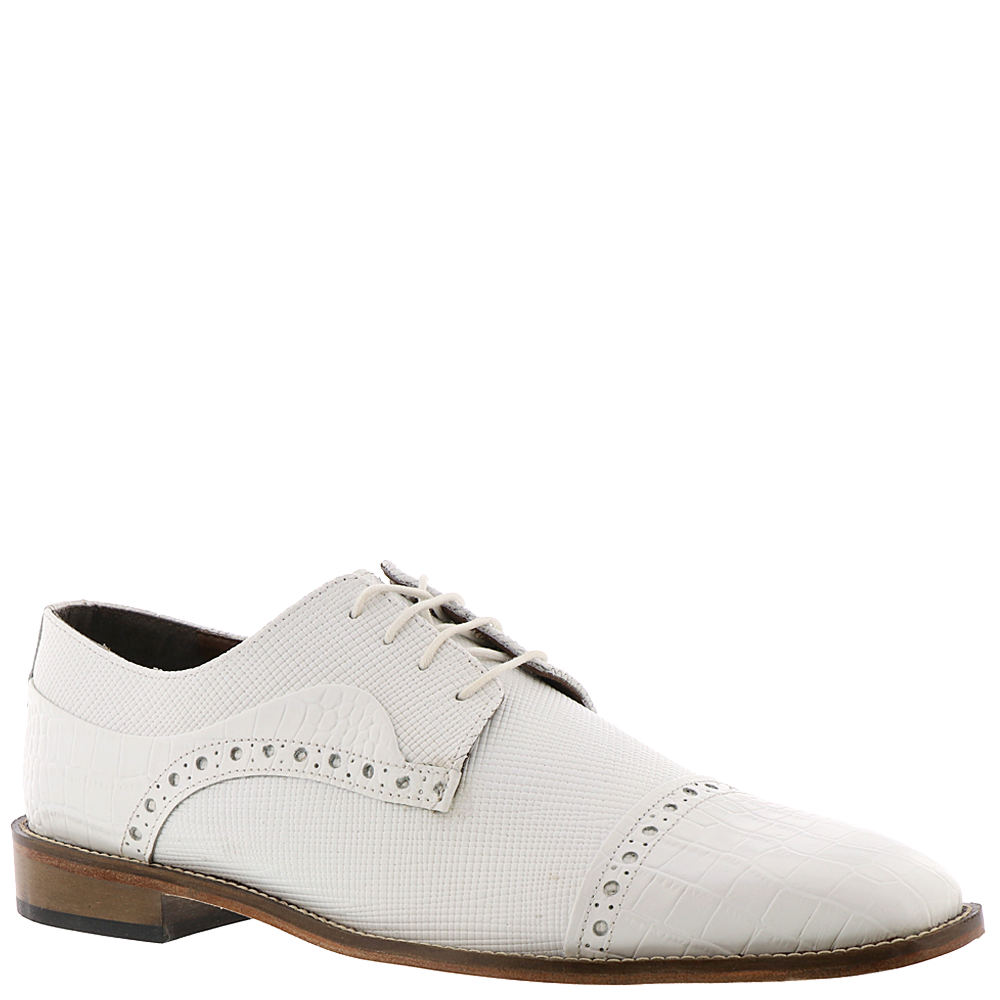 1920s Style Mens Shoes | Peaky Blinders Boots Stacy Adams Rodrigo Mens White Oxford 12 M $89.95 AT vintagedancer.com