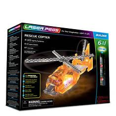 Laser Pegs Rescue Copter 6-1 Building Set