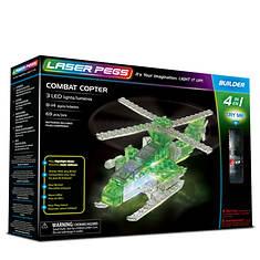 Laser Pegs Combat Copter 4-1 Building Set