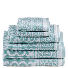 Arabesque Jacquard 6-Piece Towel Set