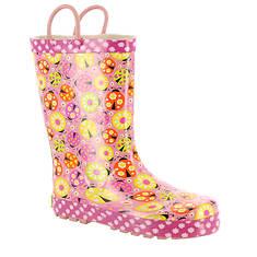 Western Chief Ladybug Garden Rain Boot (Girls' Toddler-Youth)