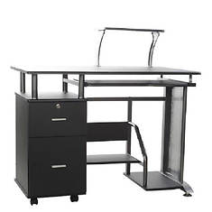 Rothmin Desk with Storage Cabinet