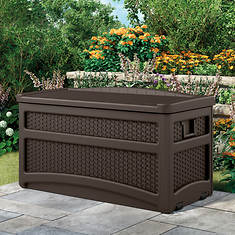 Suncast 73-Gal. Wicker-Look Deck Box