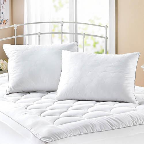 Half Moon Mattress Pad with Bonus Pillows