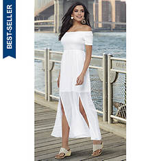 Gauze Smocked Maxi Dress