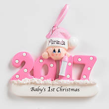 2017 Personalized First Christmas - Girl