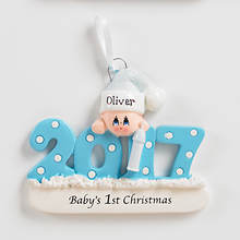 2017 Personalized First Christmas - Boy