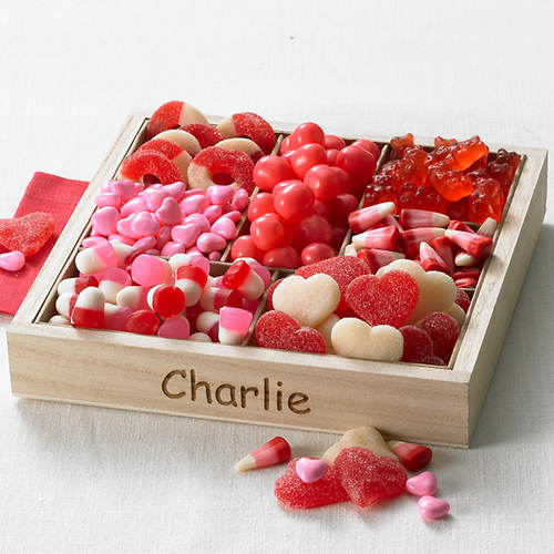 personalized valentine candy tray - Personalized Valentine Candy
