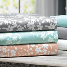 8-Pc. Floral/Solid Sheet Set