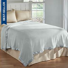 Satin-Trimmed Faux Fleece Blankets