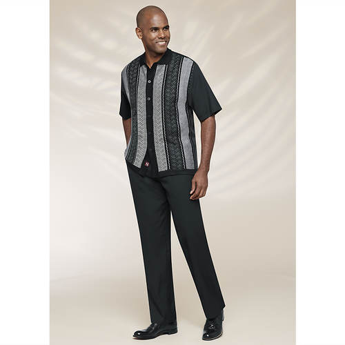 Stacy Adams Men's Vertical Tone Knit Set