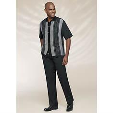 Stacy Adams Men's Vertical Tone Knit Set