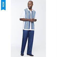 Stacy Adams Men's Linear Geo Knit Set