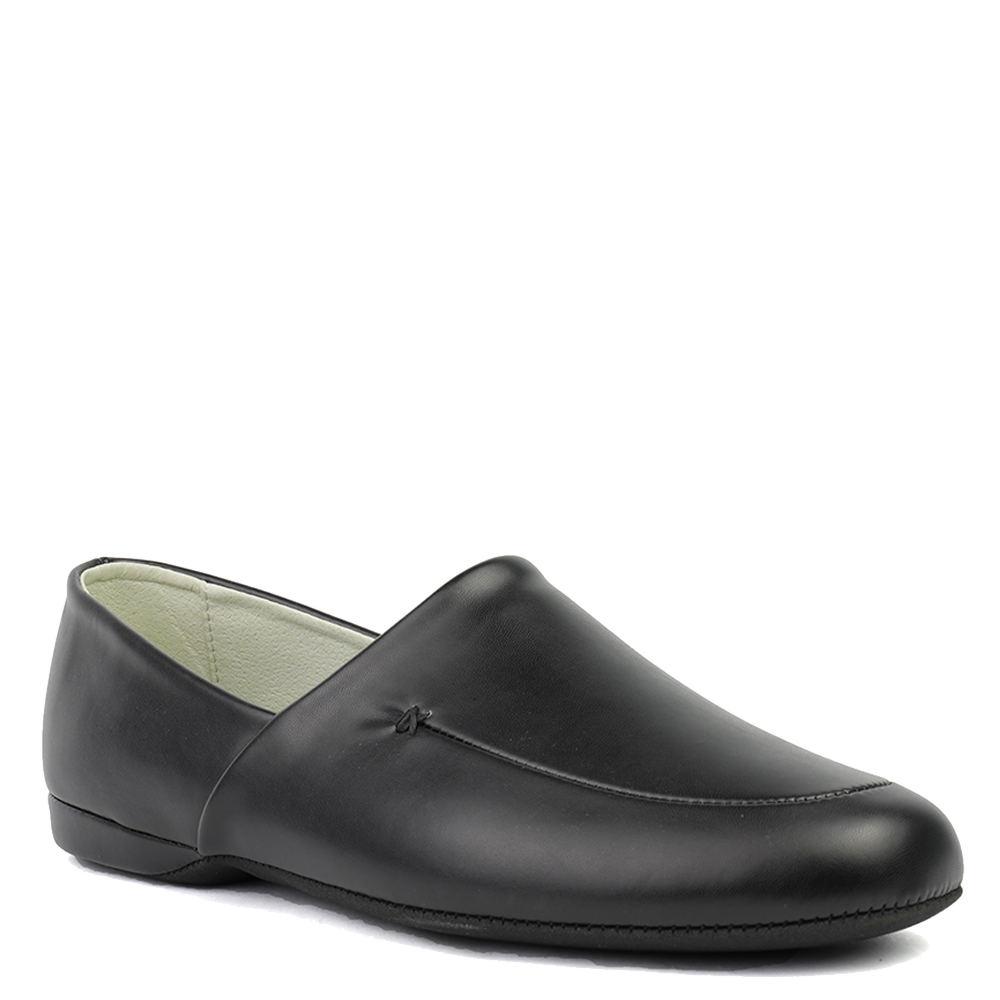 Men's 1920s Shoes History and Buying Guide LB Evans Duke Opera Mens Black Slipper 17 M $54.95 AT vintagedancer.com