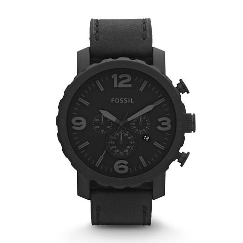 Fossil Nate Leather Strap Watch