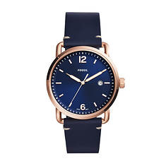 Fossil Commuter Leather Strap Watch