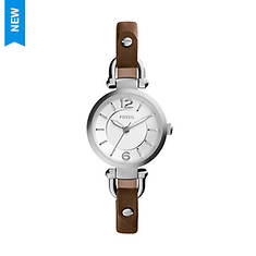 Fossil Georgia Leather Strap Watch