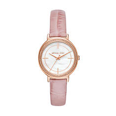 Michael Kors Cinthia Leather Strap Watch