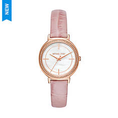 Michael Kors Cinthia Leather Strap Watch