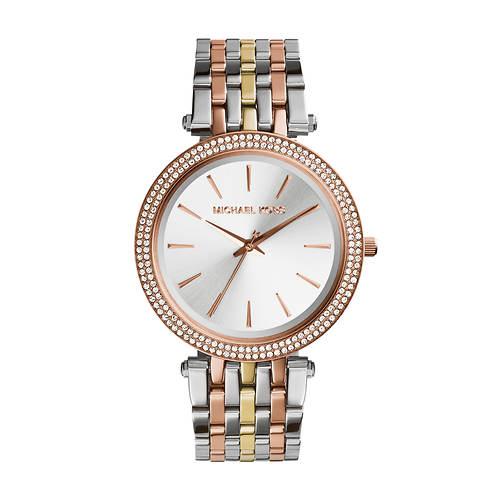 Michael Kors Darci Tri-Tone Crystal Watch