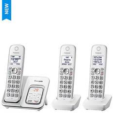 Panasonic Base & 2 Handsets Cordless Answering System
