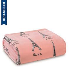 Velvet Plush Fleece Paris Throw