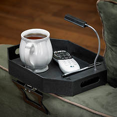 Clip on Sofa Tray with Light
